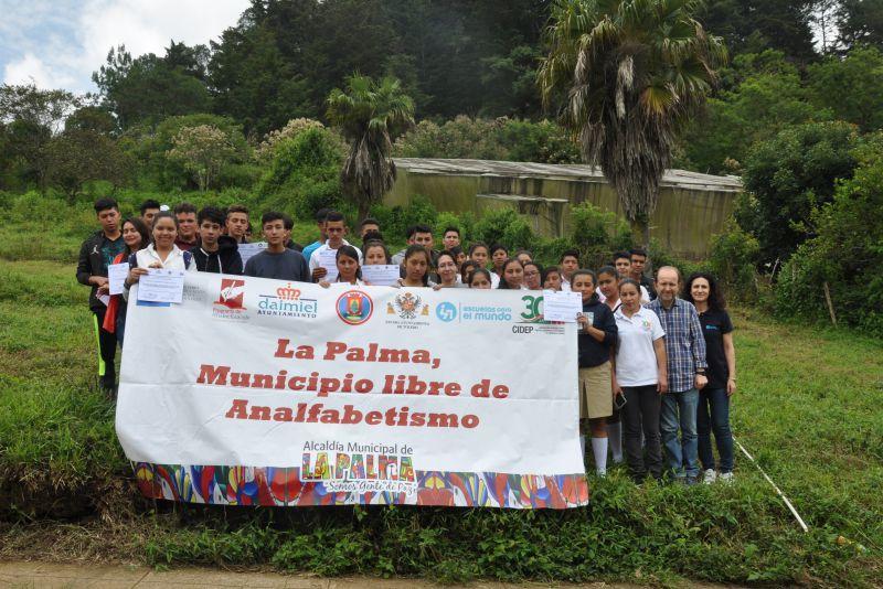 Erradicación del analfabetismo en personas jóvenes y adultas del municipio de La Palma, departamento de Chalatenango, El Salvador
